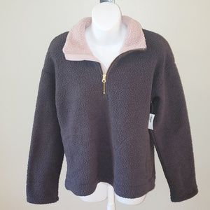 Old Navy  Fleece Jacket in grey and pink